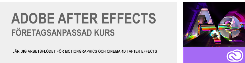 Adobe After Effects och Cinema 4D företagsanpassad